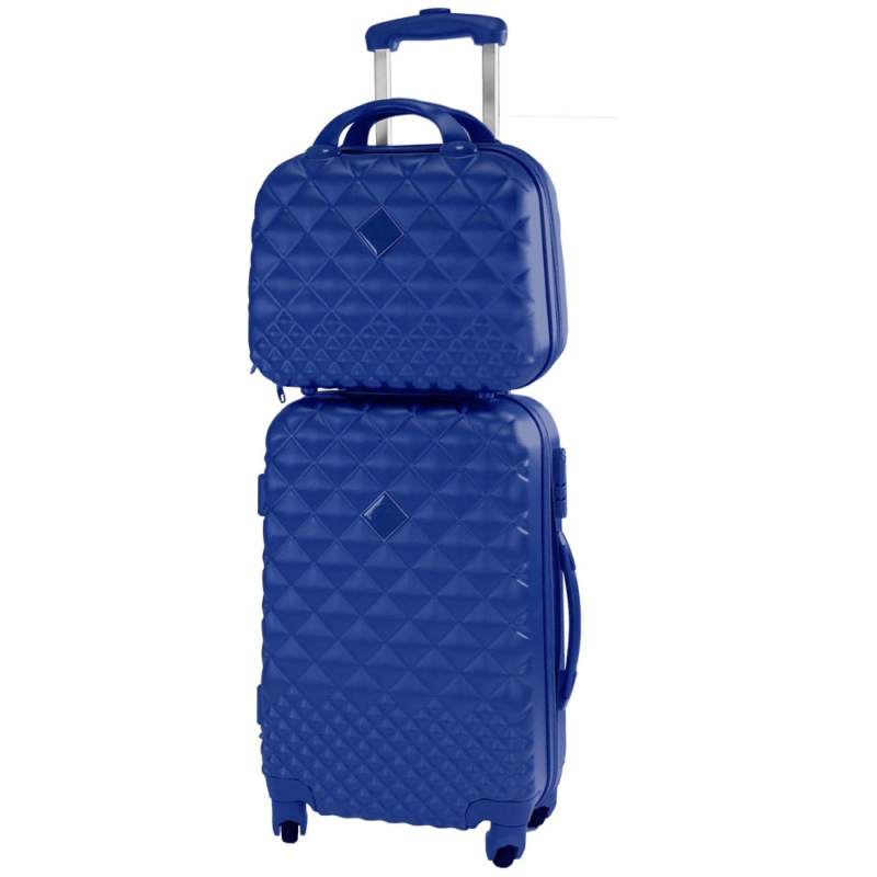 ef618bb06d SET COMPOSTO DA: 1 TROLLEY + 1 VANITY CASE Trolley viaggio rigido cabin  size effetto